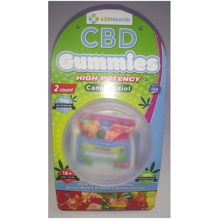 420 HEALTH CBD GUMMIES 2CT 40MG 25PCS