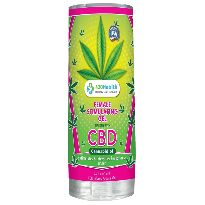 420 HEALTH FEMALE STIMULATING GEL + CBD 0.5OZ (15ML)