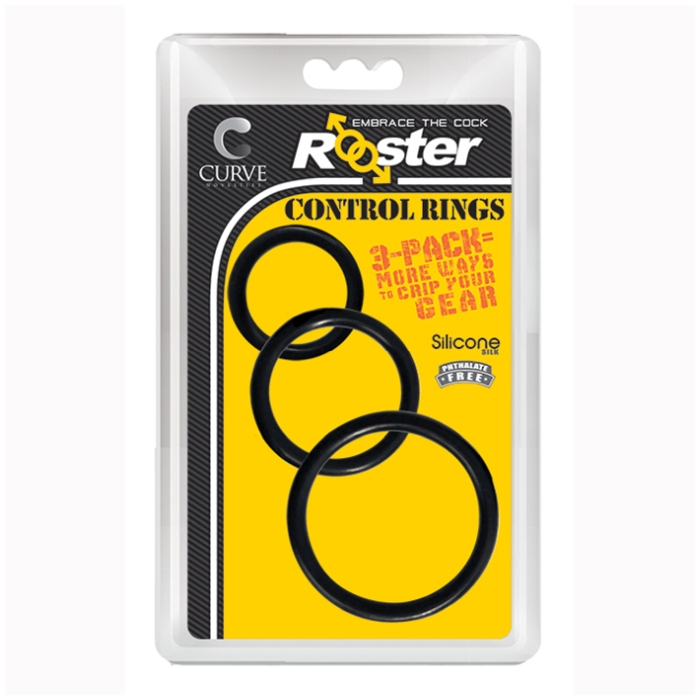 ROOSTER CONTROL RINGS - BLACK