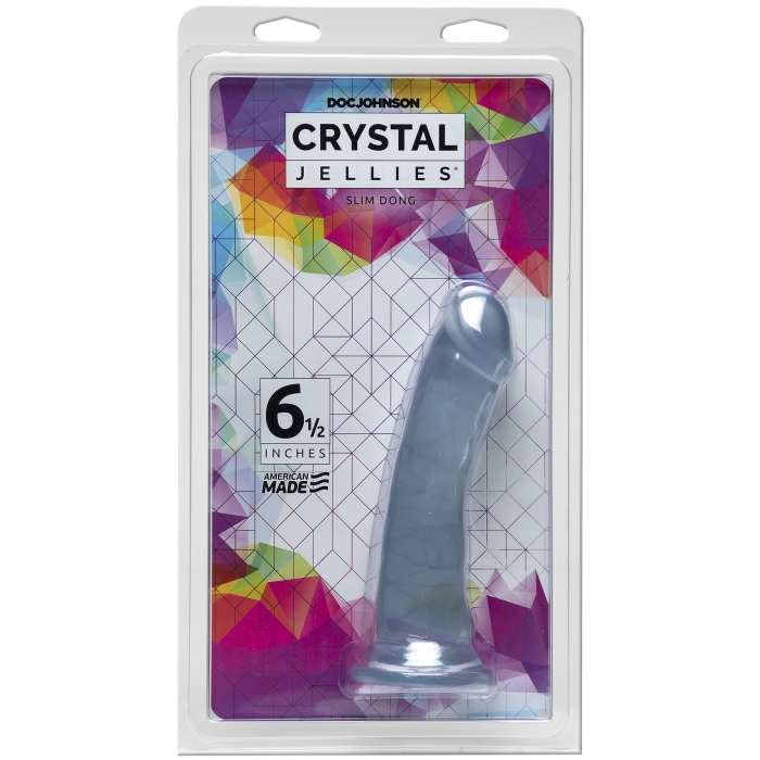 "CRYSTAL JELLIES - SLIM DONG 6.5"" - CLEAR"