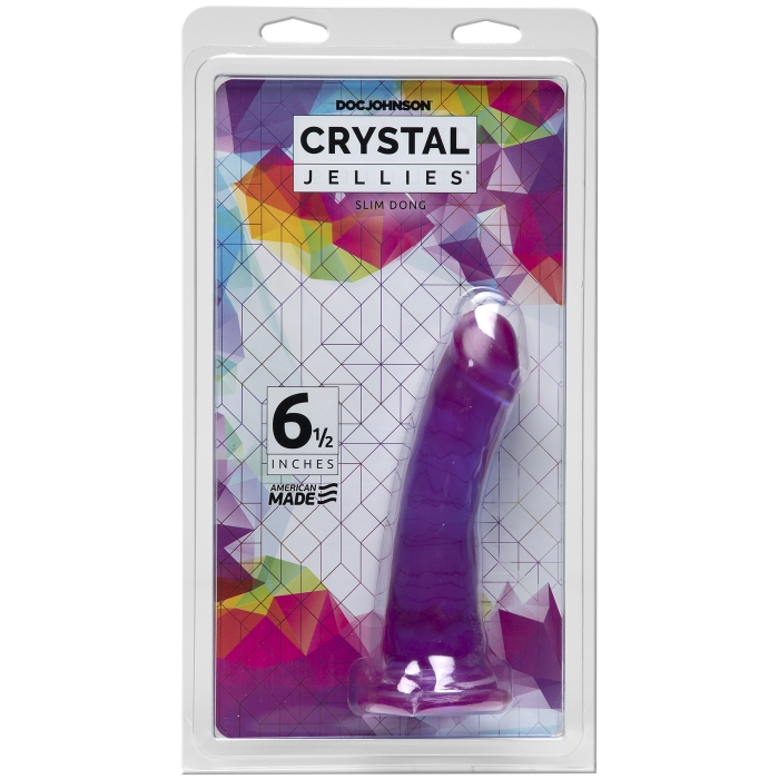 "CRYSTAL JELLIES - SLIM DONG 6.5"" - PURPLE"