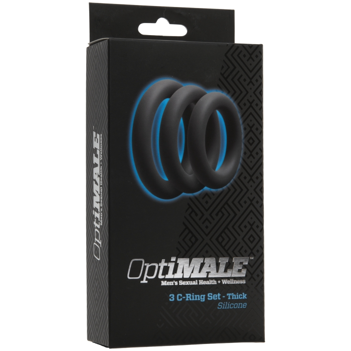 OPTIMALE - 3 C-RING SET THICK SILICONE - SLATE