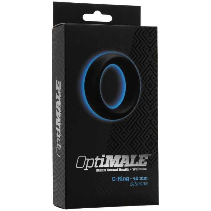 OPTIMALE - C-RING 40 MM SILICONE - BLACK