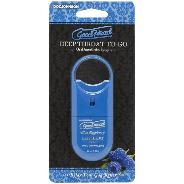 GOODHEAD TO-GO - DEEP THROAT SPRAY - BLUE RASPBERRY