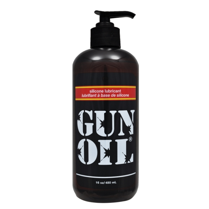 GUN OIL 16 OZ SILICONE LUBRICANT WITH PUMP