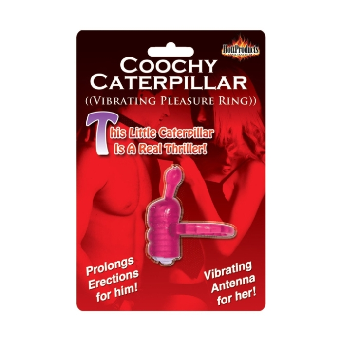 HORNY HONEY VIBRO RING COOCHY CATERPILLAR - MAGENTA