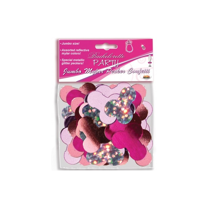 JUMBO MYLAR PECKER PARTY CONFETTI