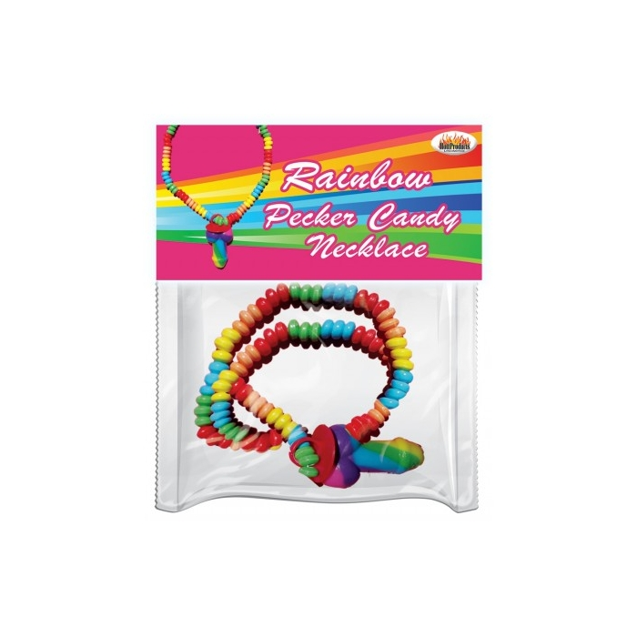 RAINBOW COCK - STRETCHY CANDY NECKLACE
