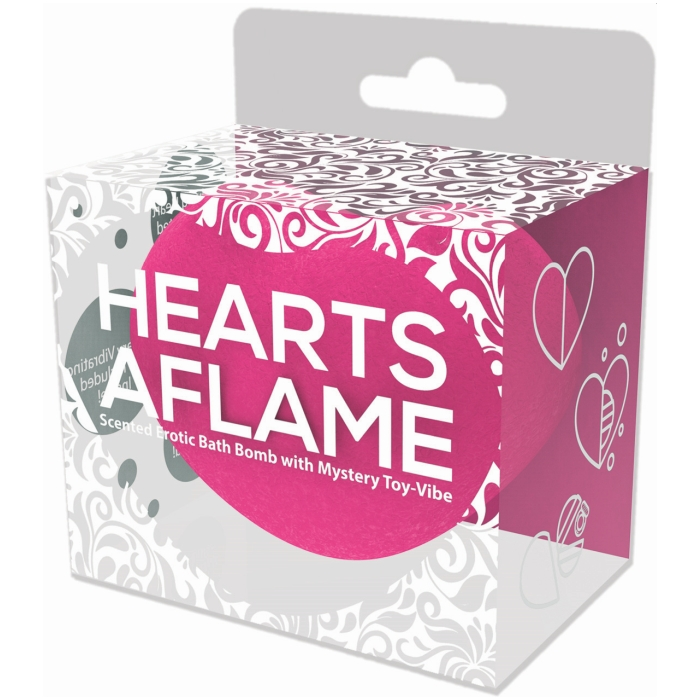 HEARTS-A-FLAME EROTIC LOVERS BATH BOMB W/ MYSTERY VIBE