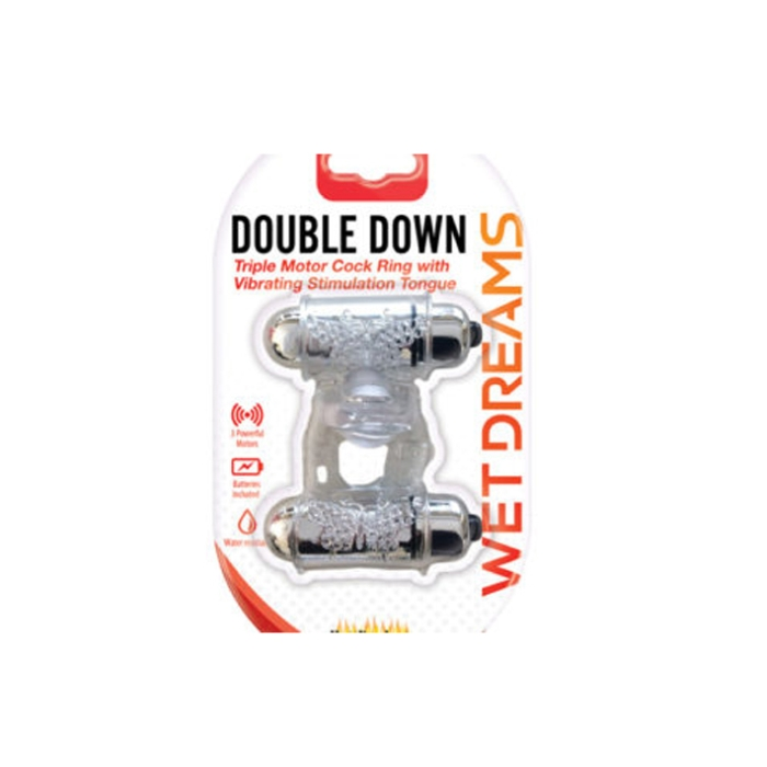 WET DREAMS COCKRING DOUBLE DOWN DUAL MOTOR