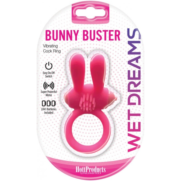 WET DREAMS BUNNY BUSTER COCKRING W/ TURBO BUNNY MOTORS