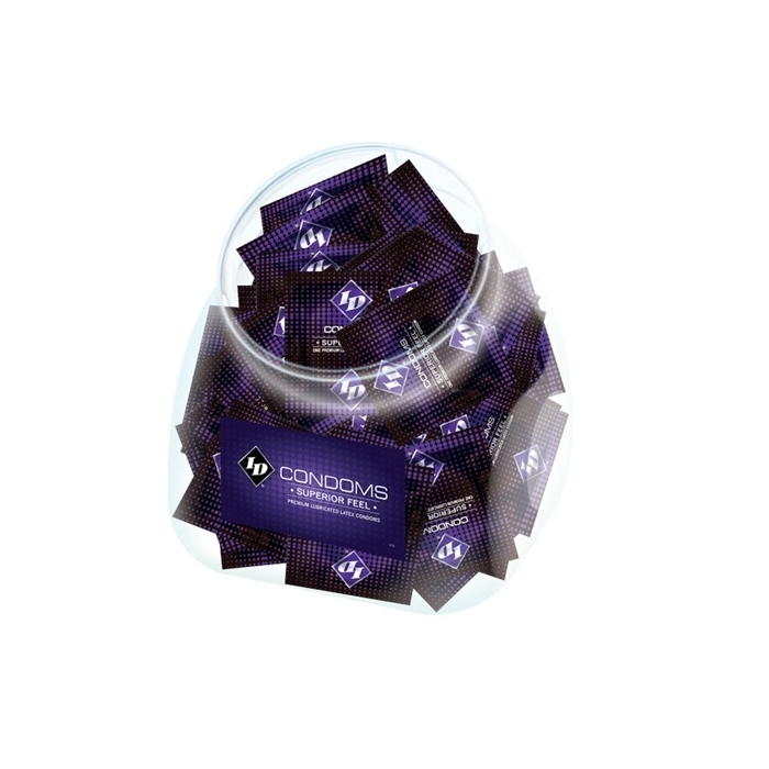 ID SUPERIOR FEEL CONDOM JAR (144 PCS)