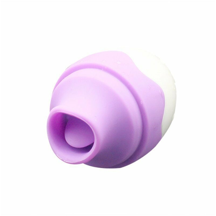 LICKER MASSAGER RECHARGEABLE EGG - VIOLET - Click Image to Close
