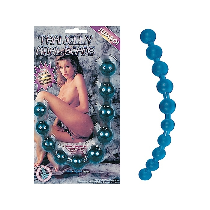 THAI JELLY ANAL BEADS - BLUE