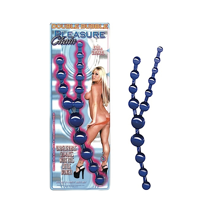 DOUBLE BUBBLE PLEASURE CHAIN-BLUE