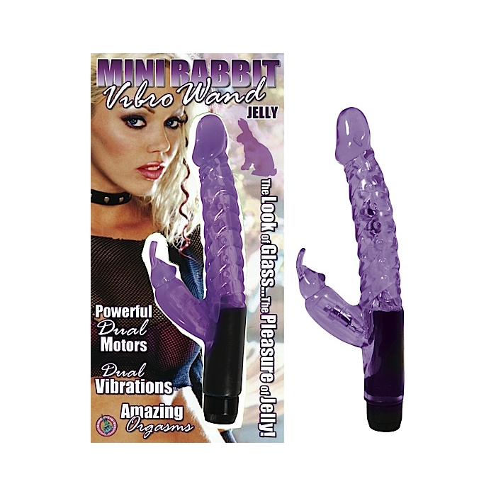 JELLY MINI RABBIT VIBRO WAND PURPLE