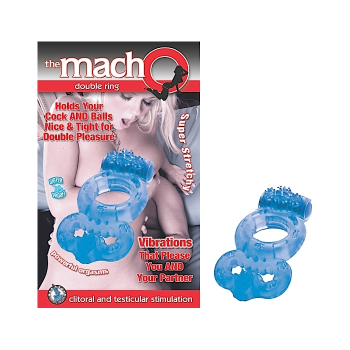 THE MACHO DOUBLE RING-BLUE