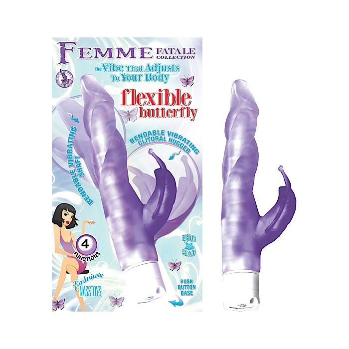 FEMME FATALE COLLECTION: FLEXIBLE BUTTERFLY - PURPLE