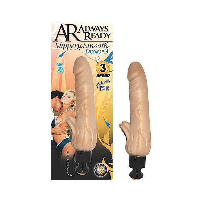 AR ALWAYS READY SLIPPERY SMOOTH DONGS DONG #3 - FLESH
