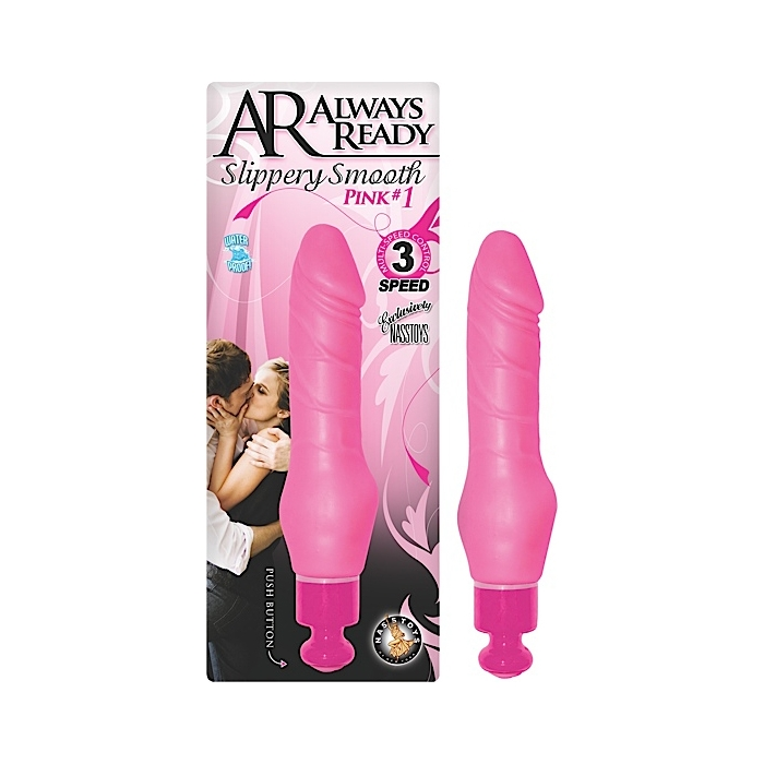AR ALWAYS READY SLIPPERY SMOOTH DONG PINK#1