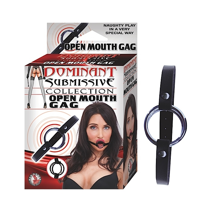 DOMINANT SUBMISSIVE COLLECTION OPEN MOUTH GAG-BLACK