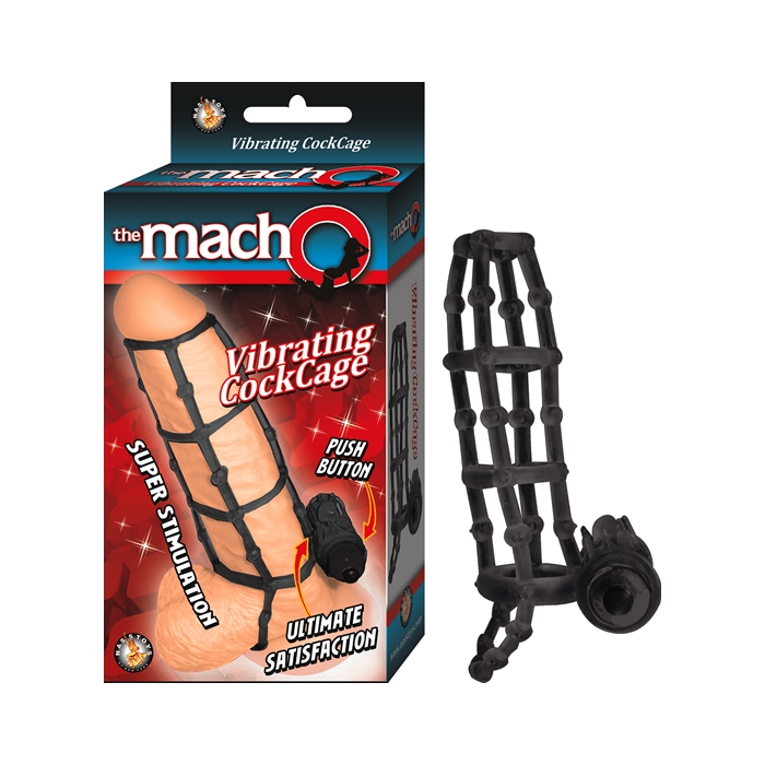 THE MACHO VIBRATING COCKCAGE - BLACK