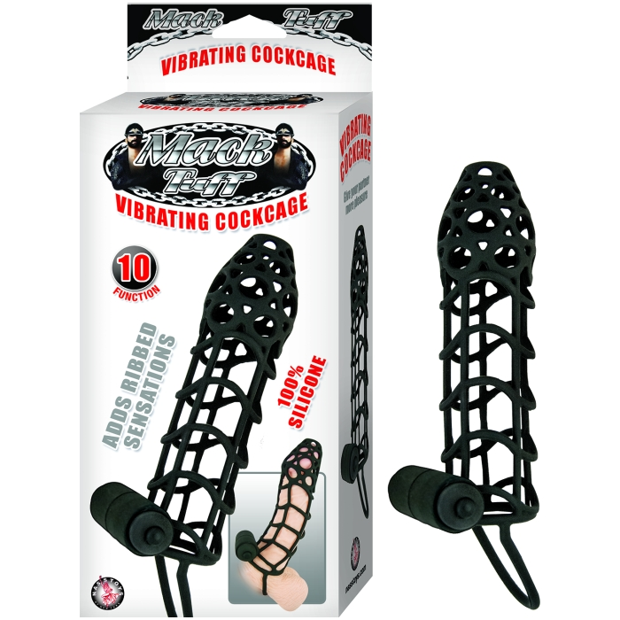 MACK TUFF VIBRATING COCKCAGE-BLACK