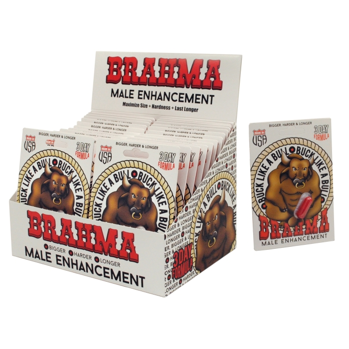 BRAHMA MALE ENHANCEMENT POP BOX - 24 COUNT