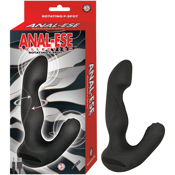 ANAL ESE COLLECTION ROTATING P SPOT VIBE-BLACK