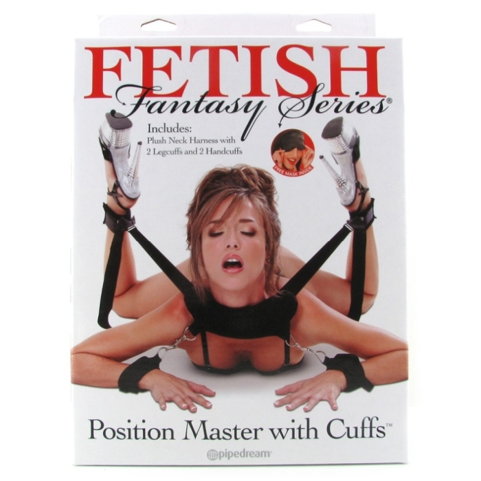 POSITION MASTER W/CUFFS PLUSH NECK HARNESS 2 LEG CUFF