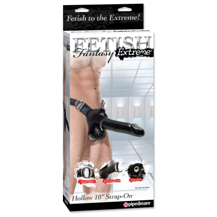 FF EXTREME HOLLOW 10 STRAP-ON - BLACK