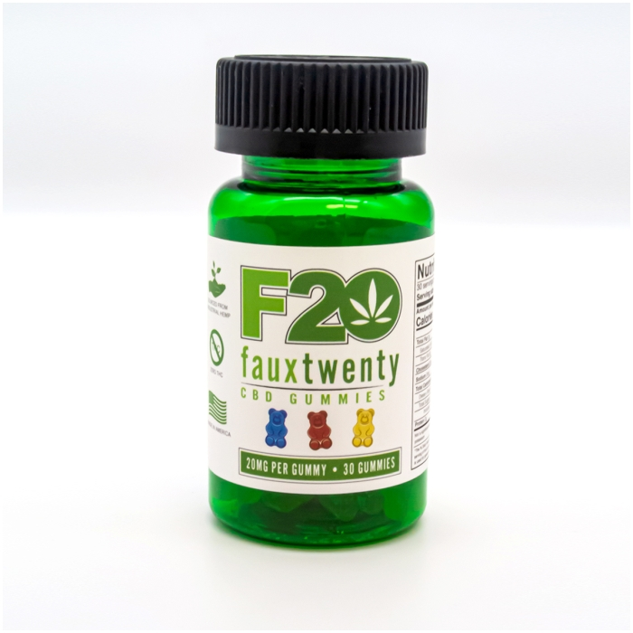 FAUX 20 CBD GUMMIES 20MG PER GUMMY 30CT BOTTLE