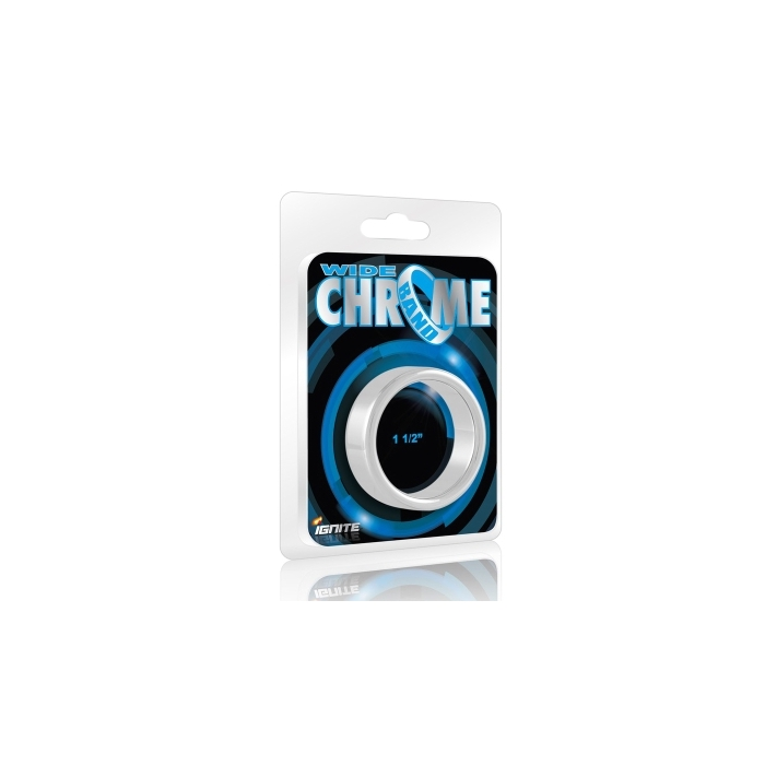 WIDE CHROME COCK RING - 1.50 (SI-95026)