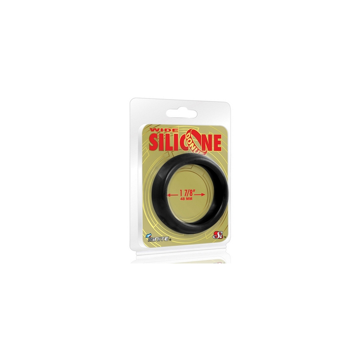 WIDE SILICONE DONUT - BLACK (1.88/48MM)