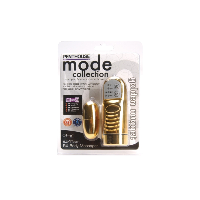 PENTHOUSE MODE EZ-1 TOUCH 5X BODY MASSAGER GOLDEN NUGGET TOY